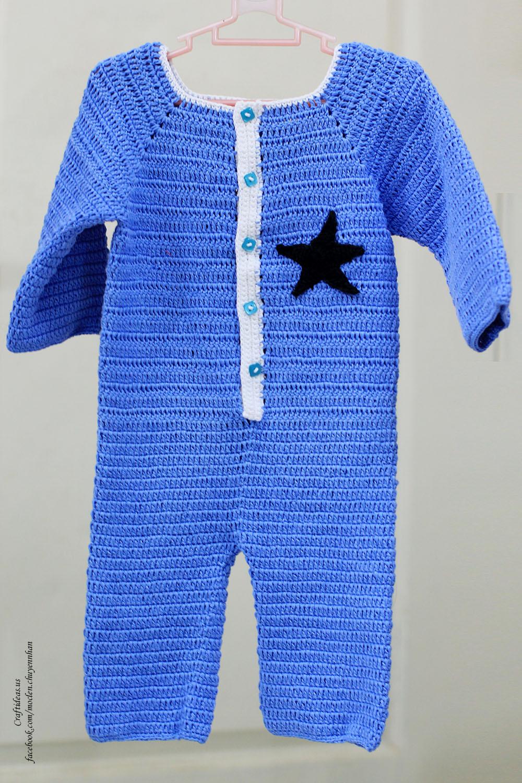 Crochet little kids jumsuit