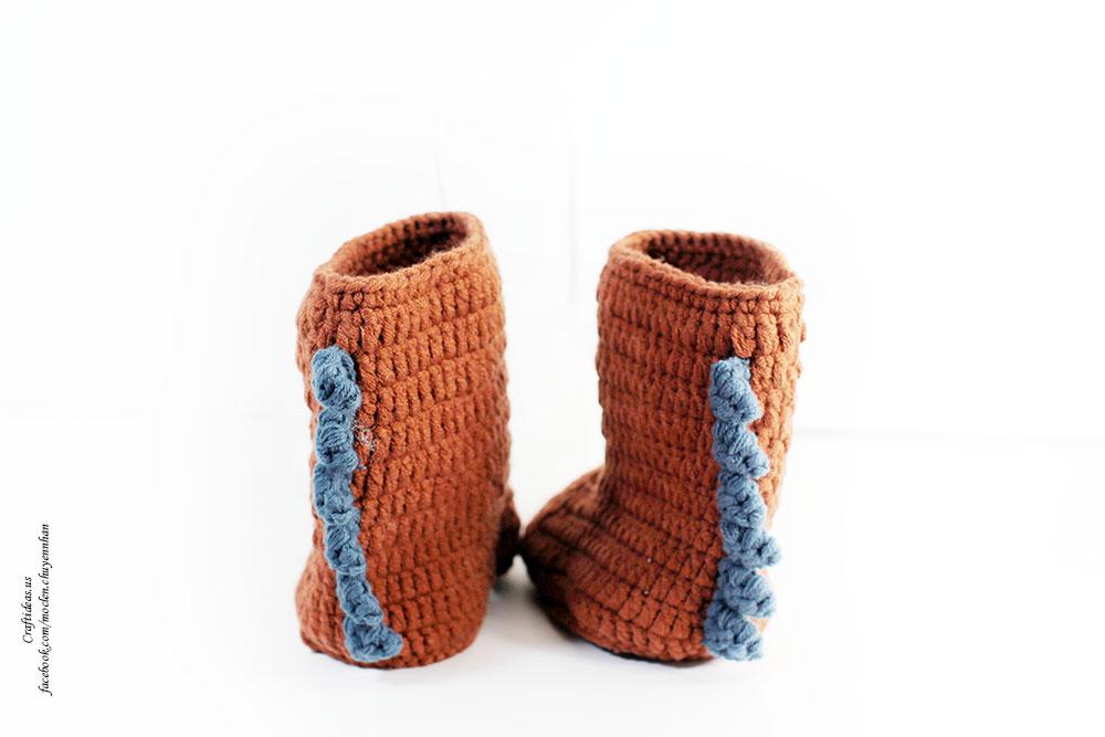 Crochet monster baby booties