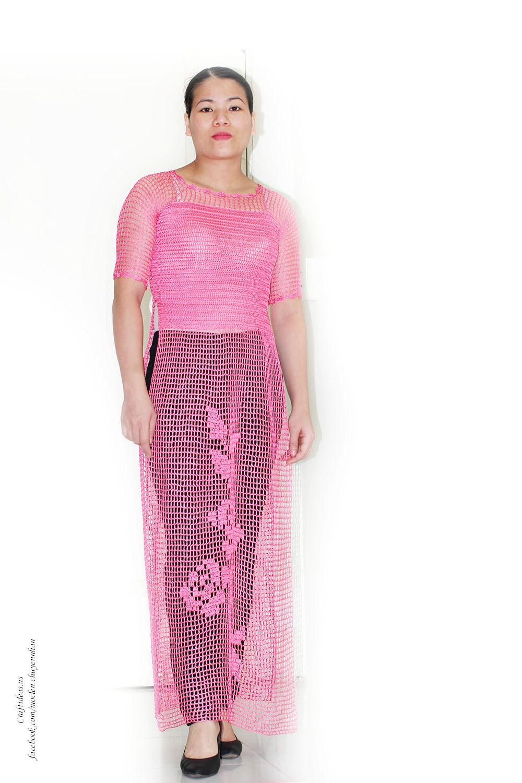 Crochet vietnam dress of filet ideas