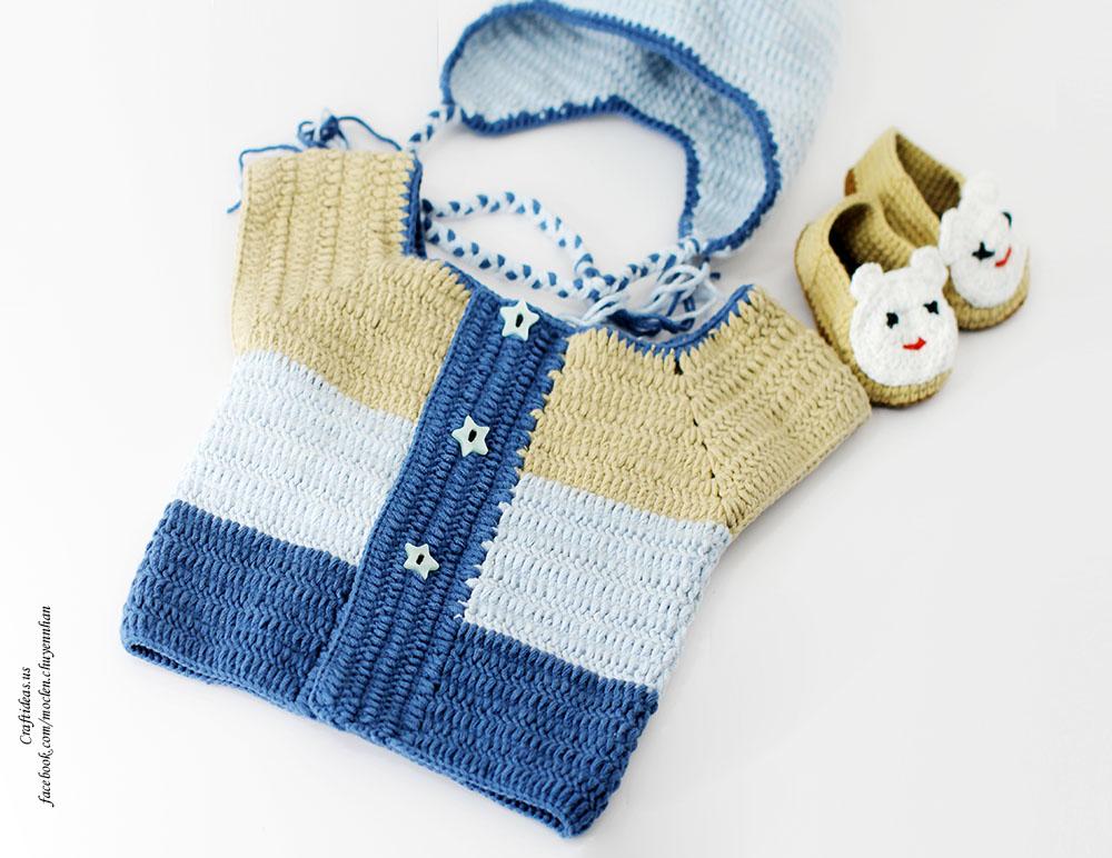 Crochet winter fashion for kids