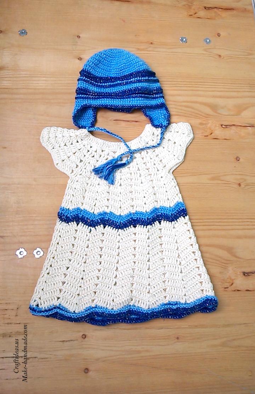 crochet-baby-set-dress-and-hat