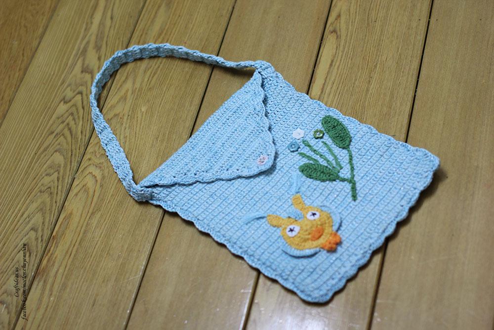 crochet cute baby bag