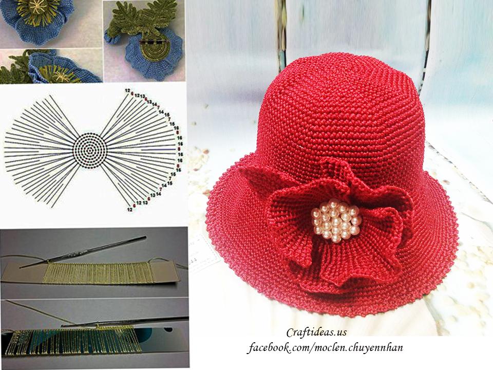 Crochet chart for beauty flower
