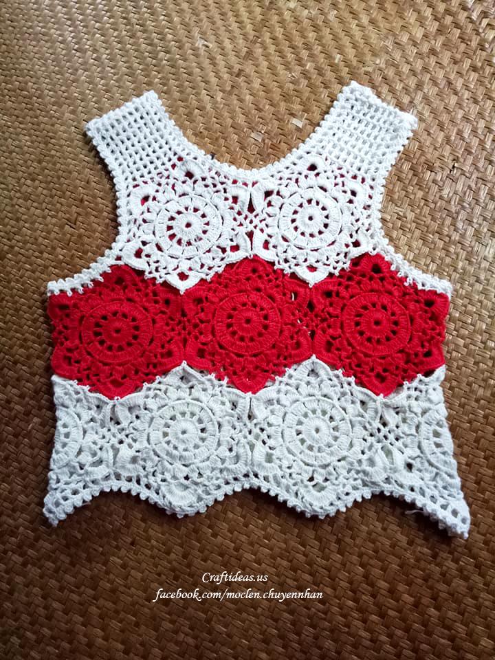 Crochet cute croptop for beach