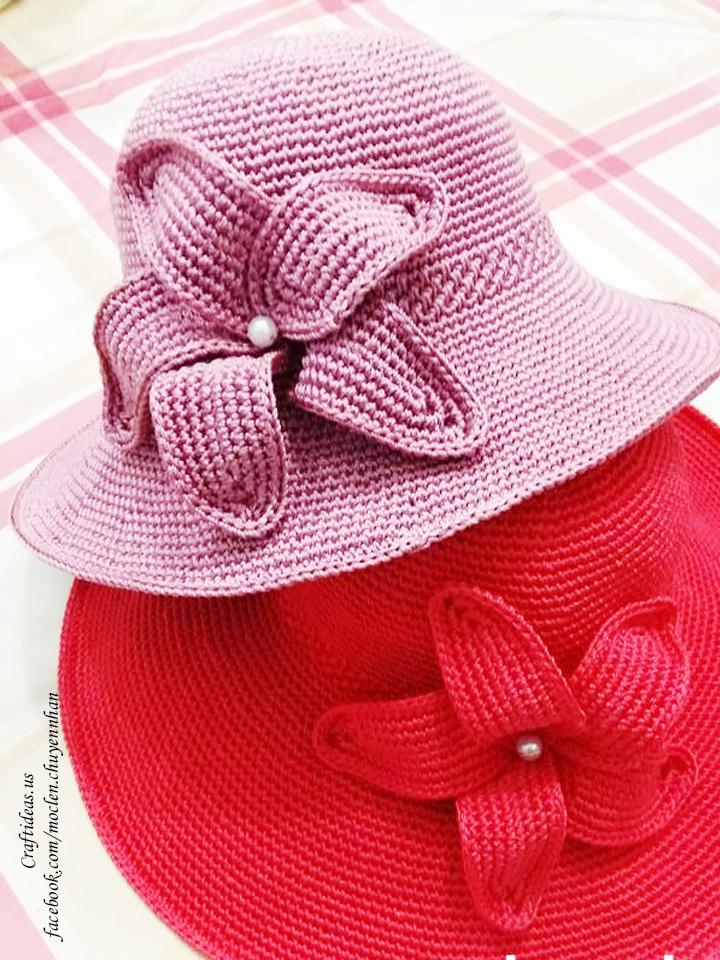Crochet cute flower for accessories, crochet chart