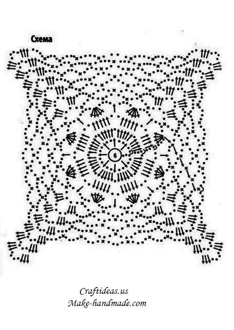 Crochet-lace-granny-square-chart