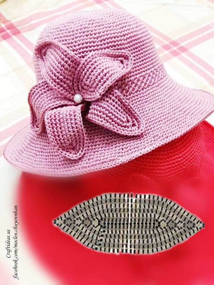 Crochet petal chart for cute flower