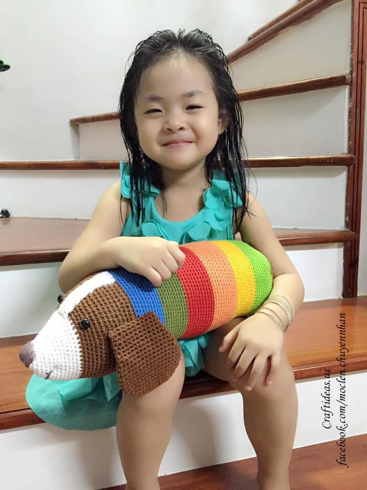 crochet cute bolster