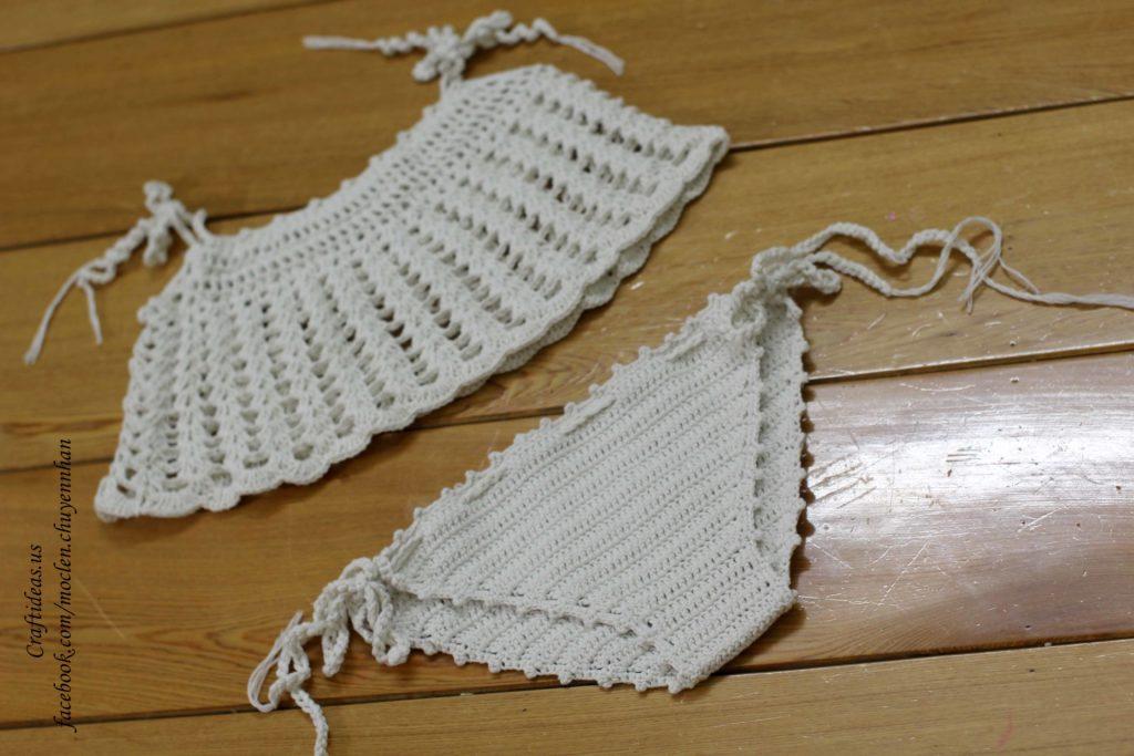 Crochet bikini set for beach