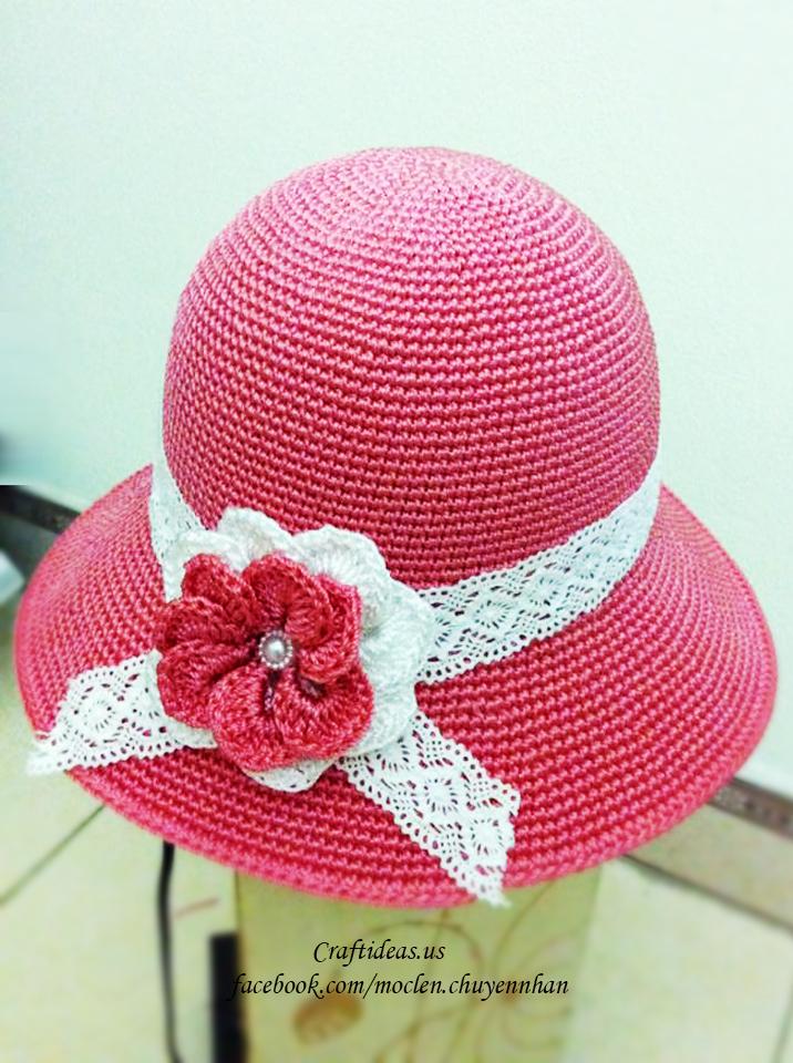 Crochet cute flower for accessories
