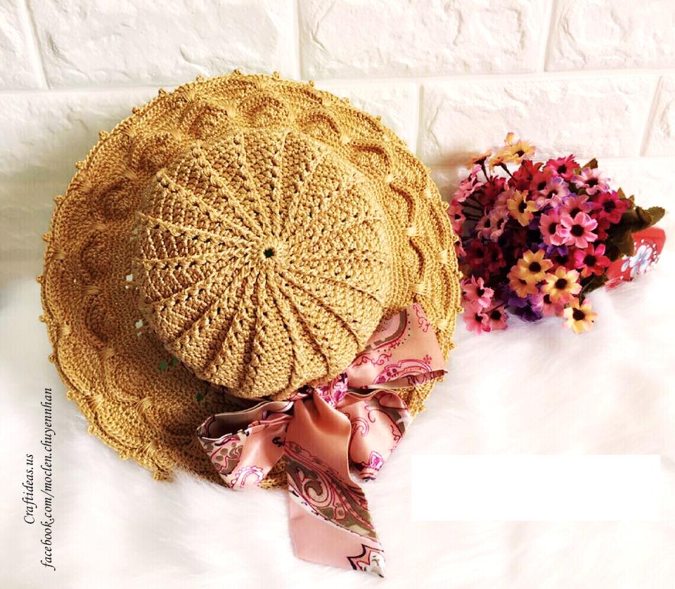 Crochet cute hat for summer, crochet ideas and chart