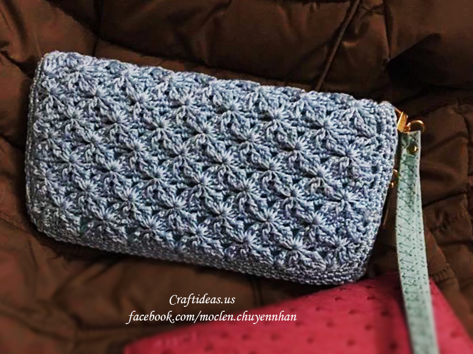 Crochet cute purse for women