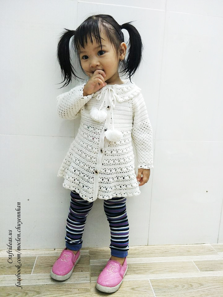 Crochet cute shirt for little kids