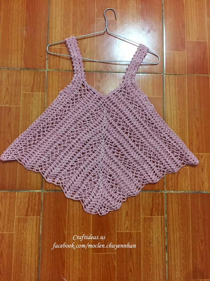 Crochet girl croptop