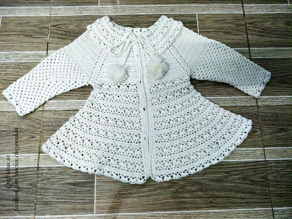 Crochet pullover and shirt for little girl