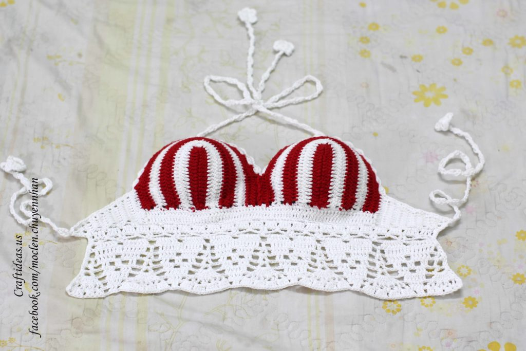 Crochet women bra croptop