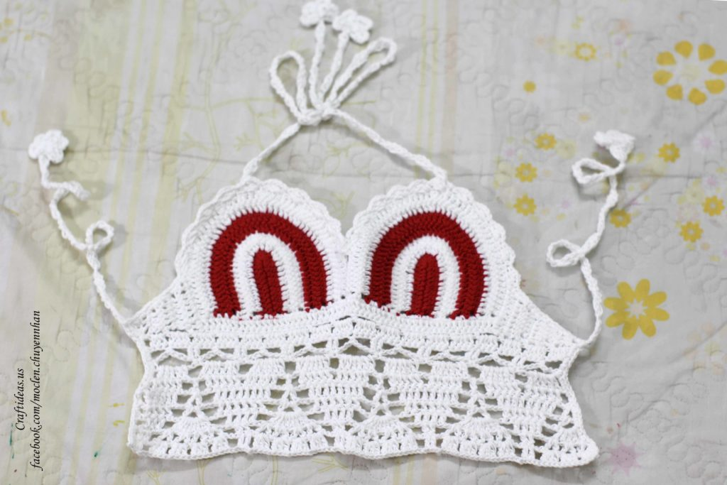 crochet baby bra croptop