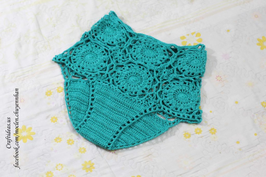 Crochet beauty shorts for beach