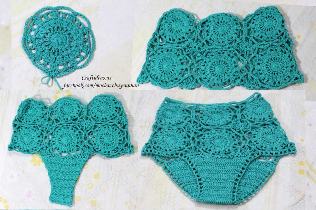 Crochet flower shorts tutorial