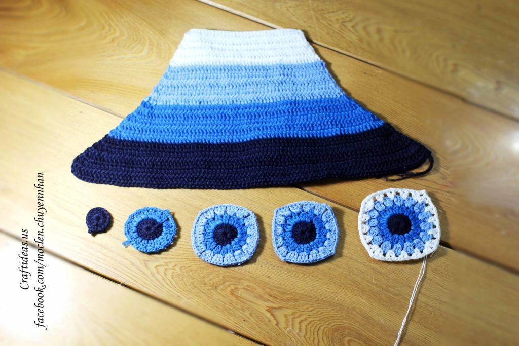 Crochet halter top photo tutorial