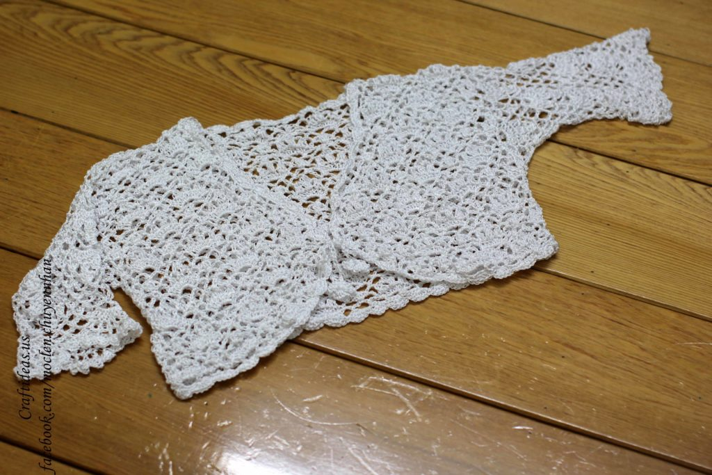 Crochet lace vest idea