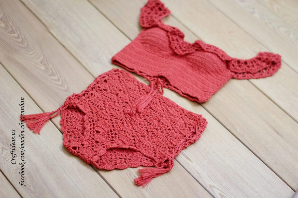 Crochet summer swimsuits for beach