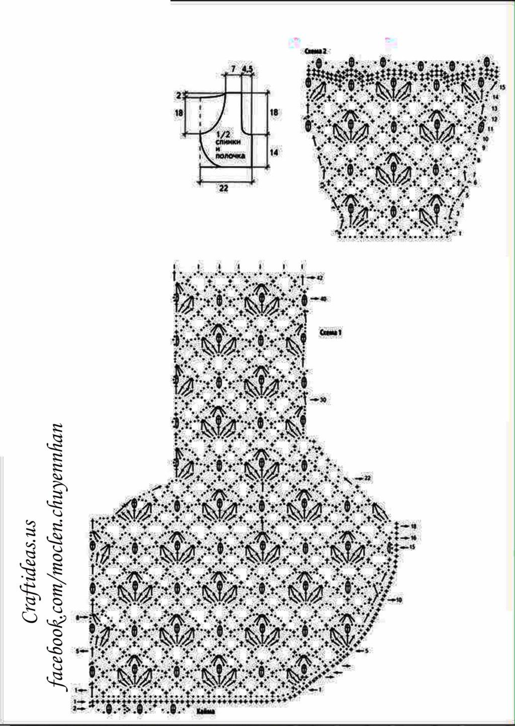 Crochet women vest chart