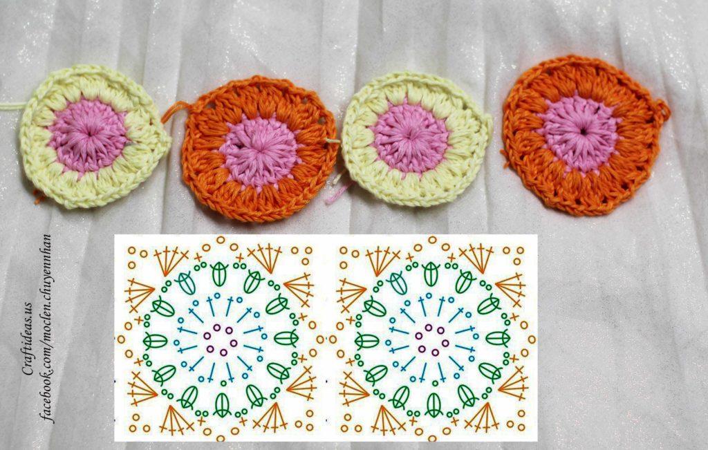 crochet cute bra from granny square chart