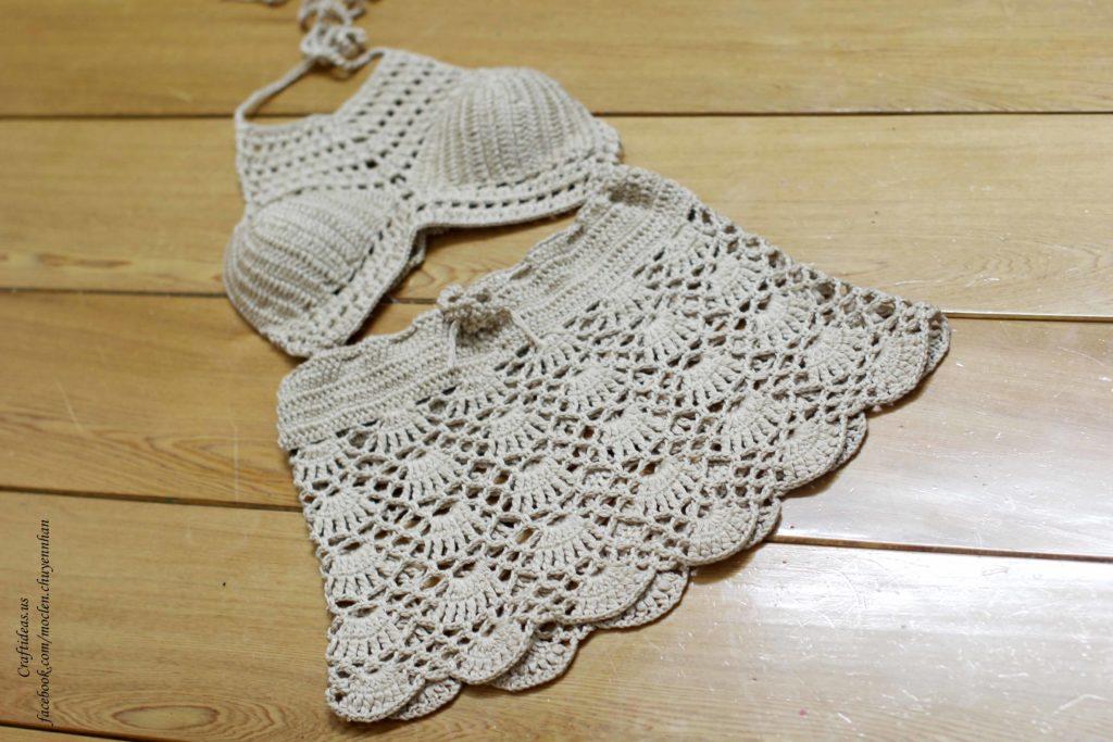 Crochet bikini set for girls