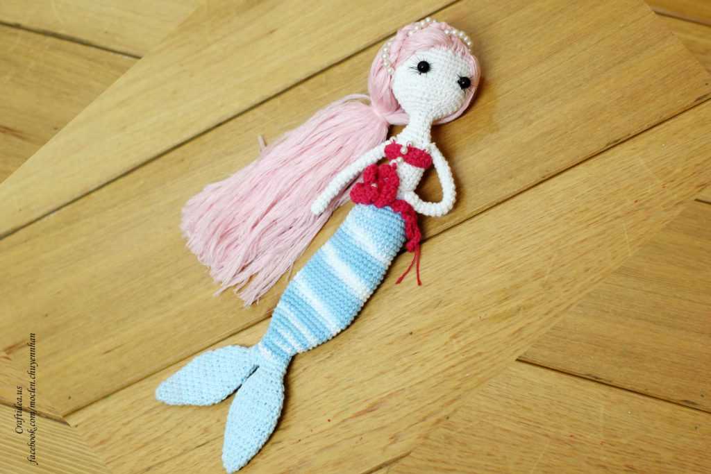 Crochet little mermaid for little princess