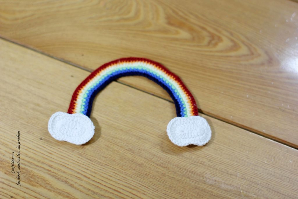 Crochet rainbow and clounds ideas