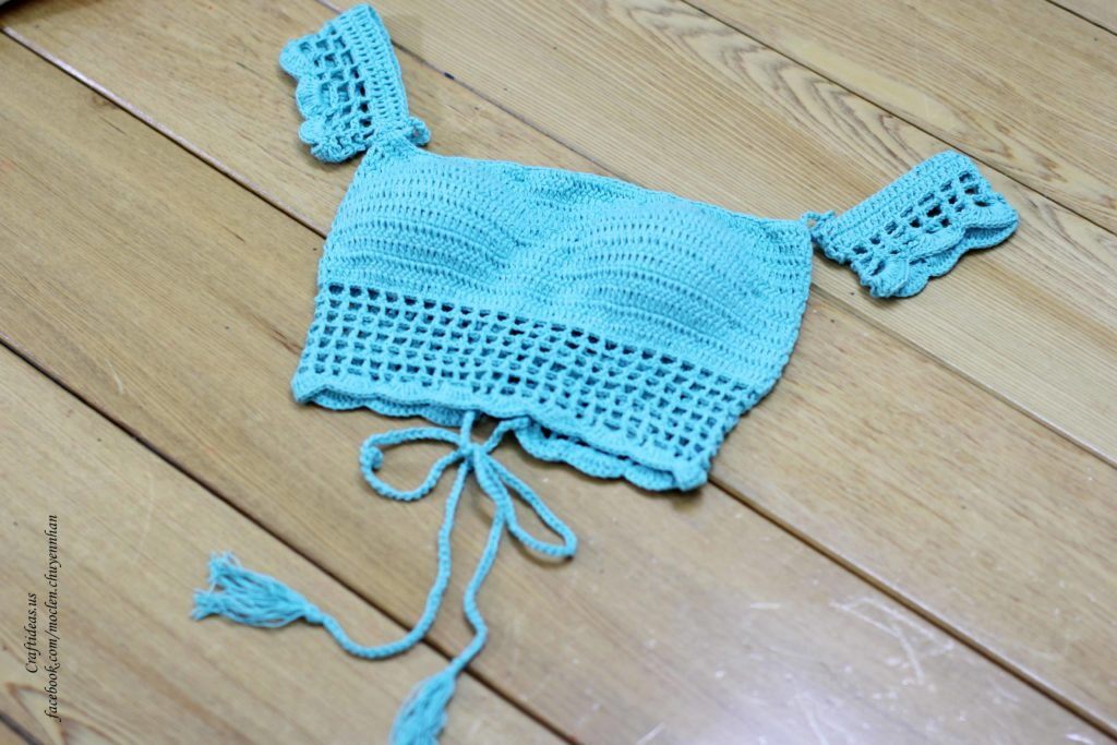 Crochet summer cute top for bikini