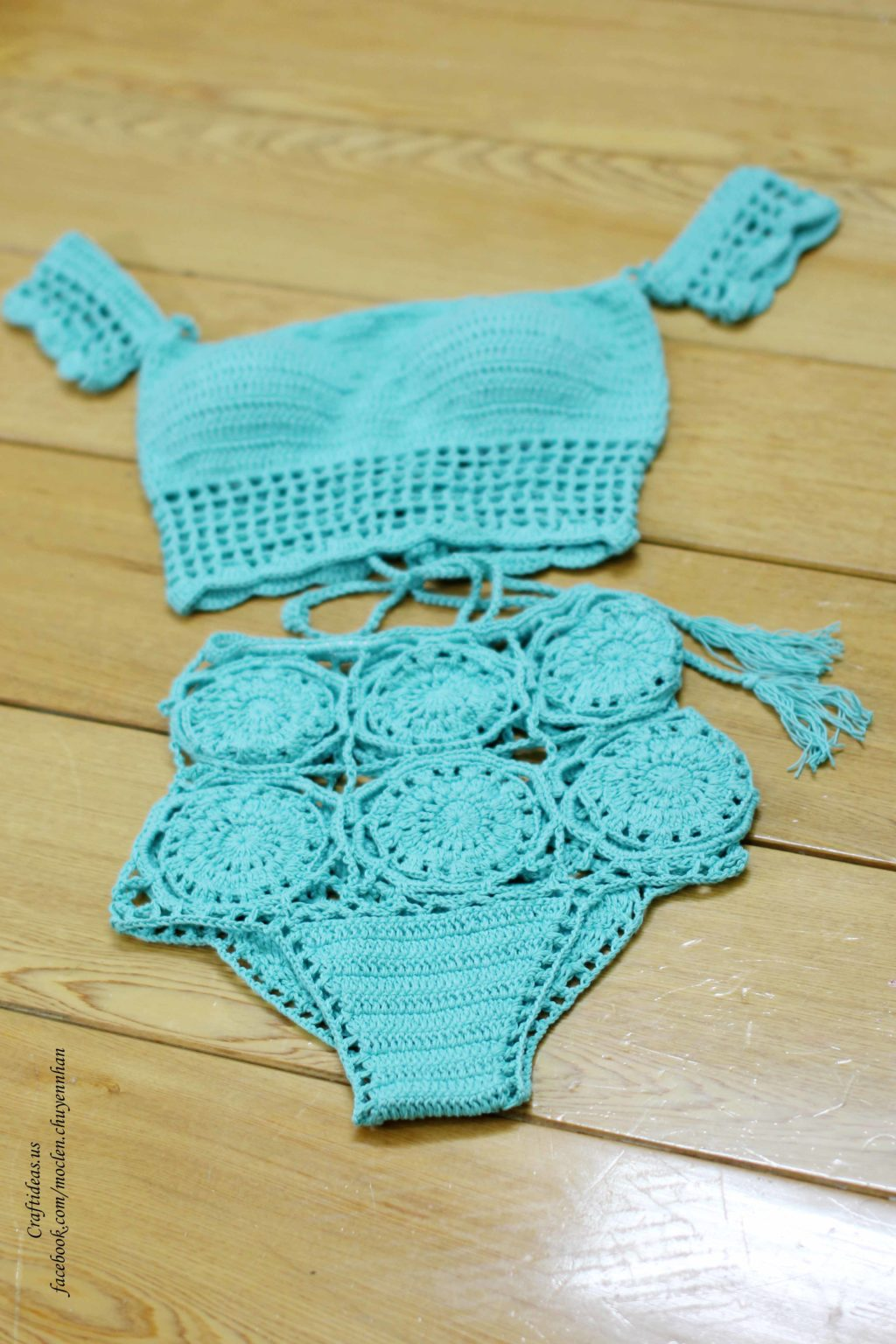 Crochet summer set for beach