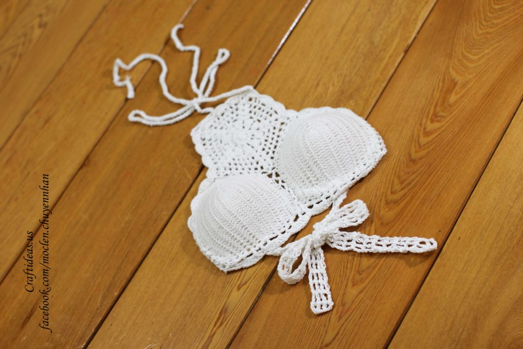 Crochet cute bra for women