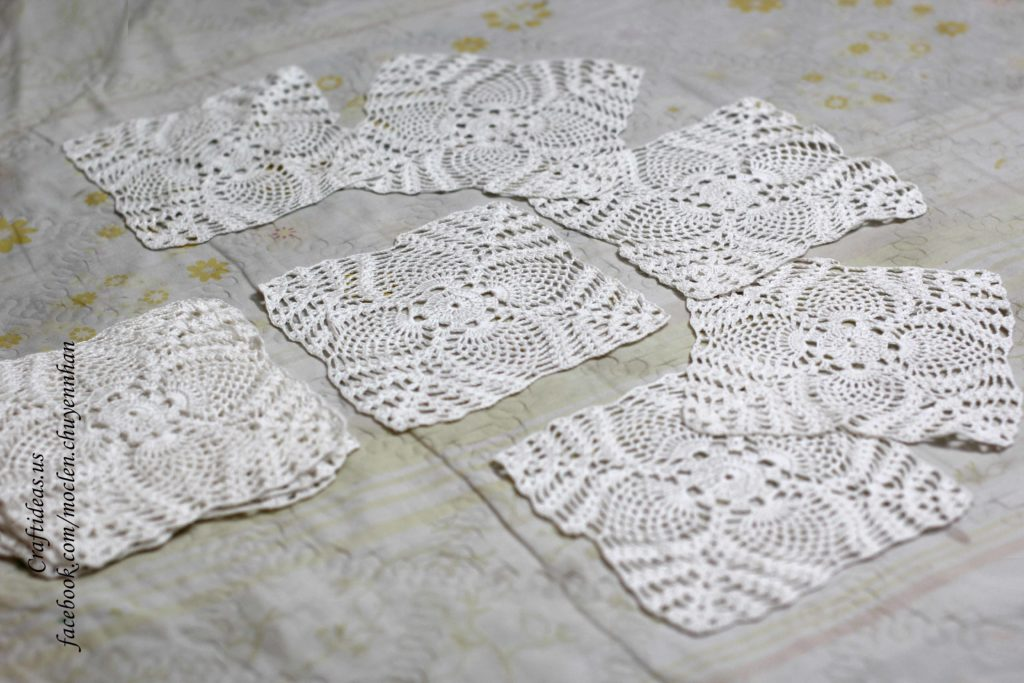 Crochet flower dishcloths