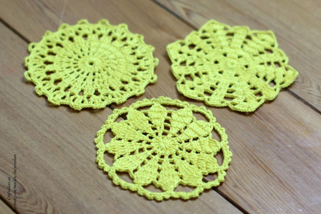 Crochet cute discloths for home decor