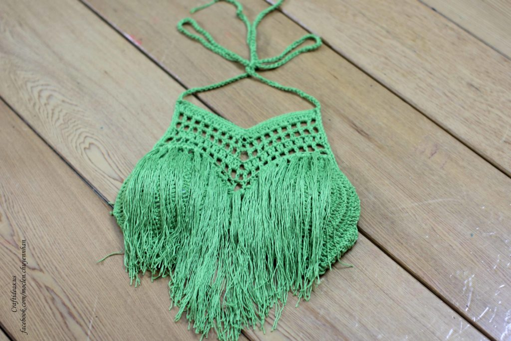 Crochet ruffled bra for twin