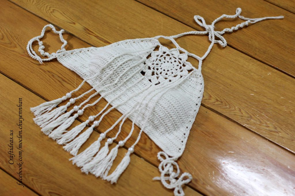 Crochet set of dreamcatcher top for women