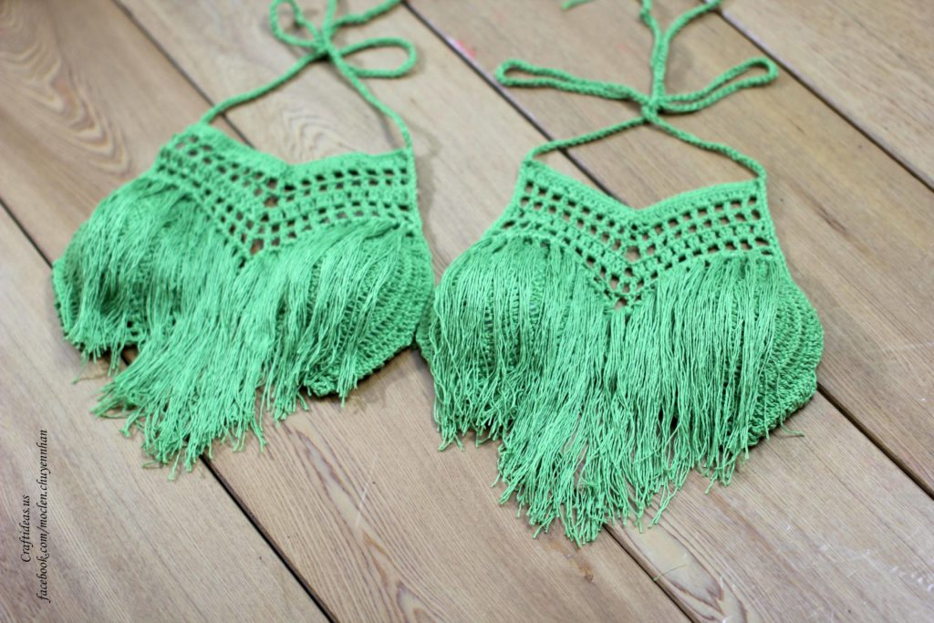 crochet stylish bra for beach