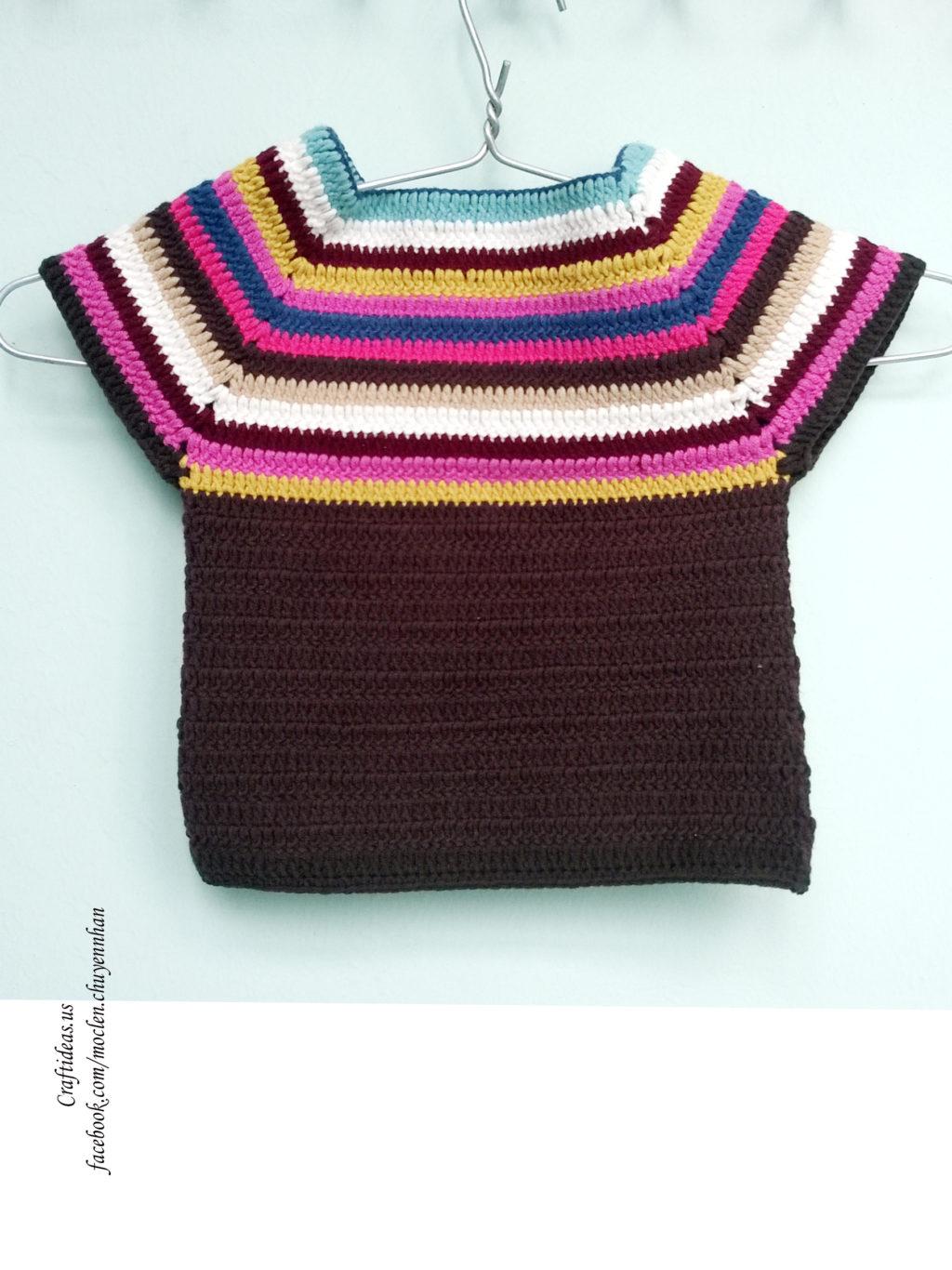 crochet baby shirt