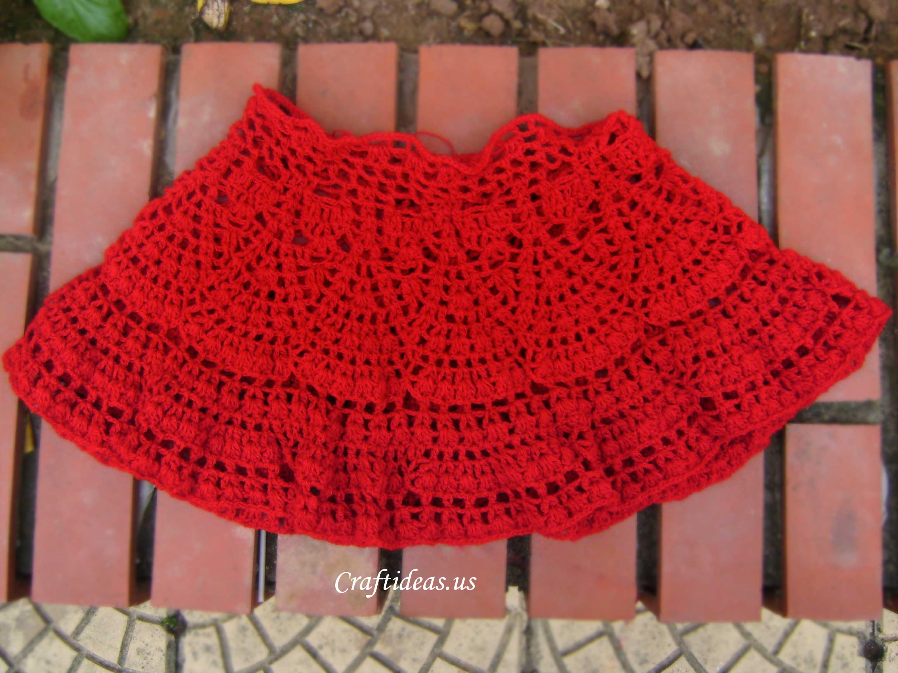 Crochet Beauty Skirt For Little Girl Craft Ideas