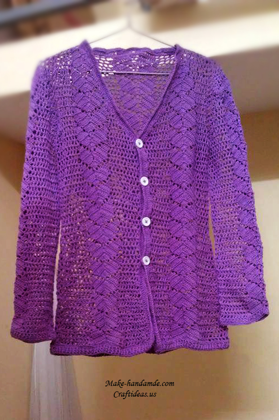 Crochet Lace Summer And Spring Jacket And Cardigan For