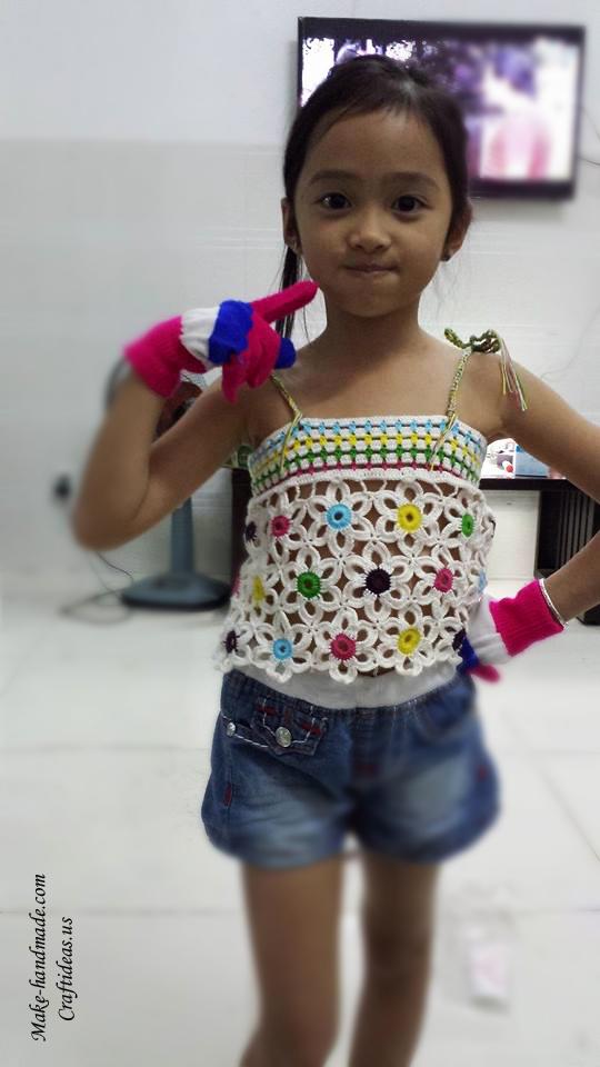 Crochet Lace Summer Tops For Little Kids Craft Ideas
