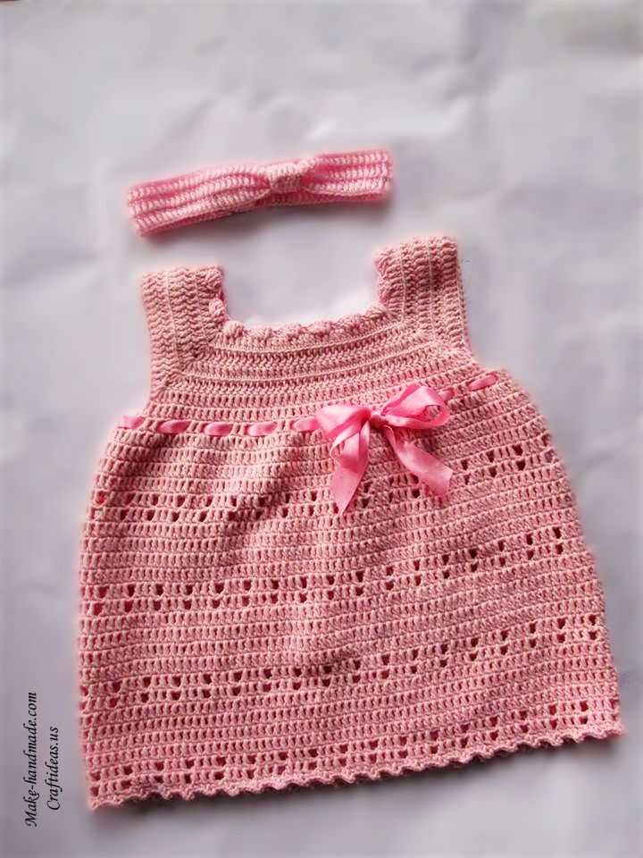 Crochet Easy Dress For Little Girl Craft Ideas